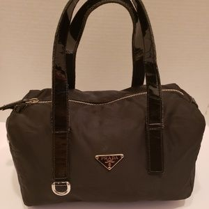 Prada black nylon satchel